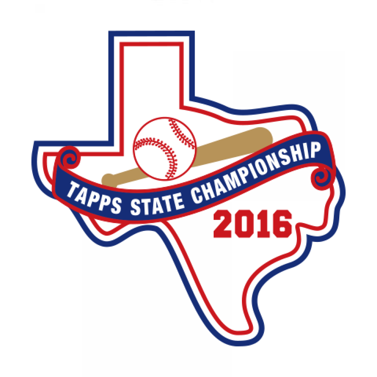 Felt 2016 TAPPS Baseball State Patch