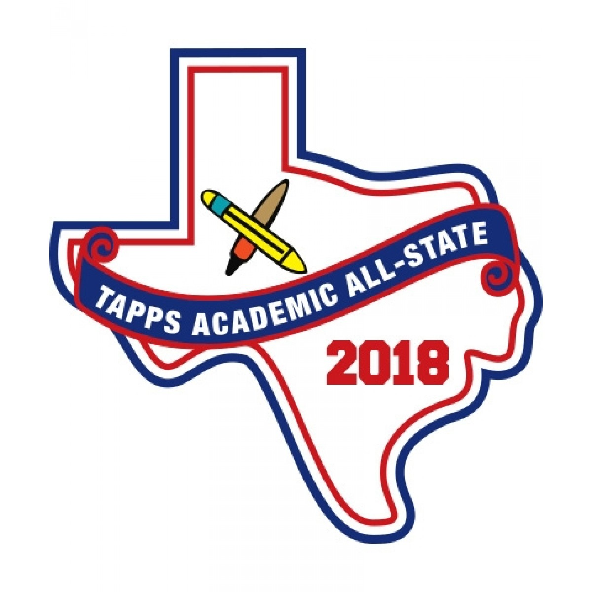 Felt 2018 TAPPS Academic All State Patch