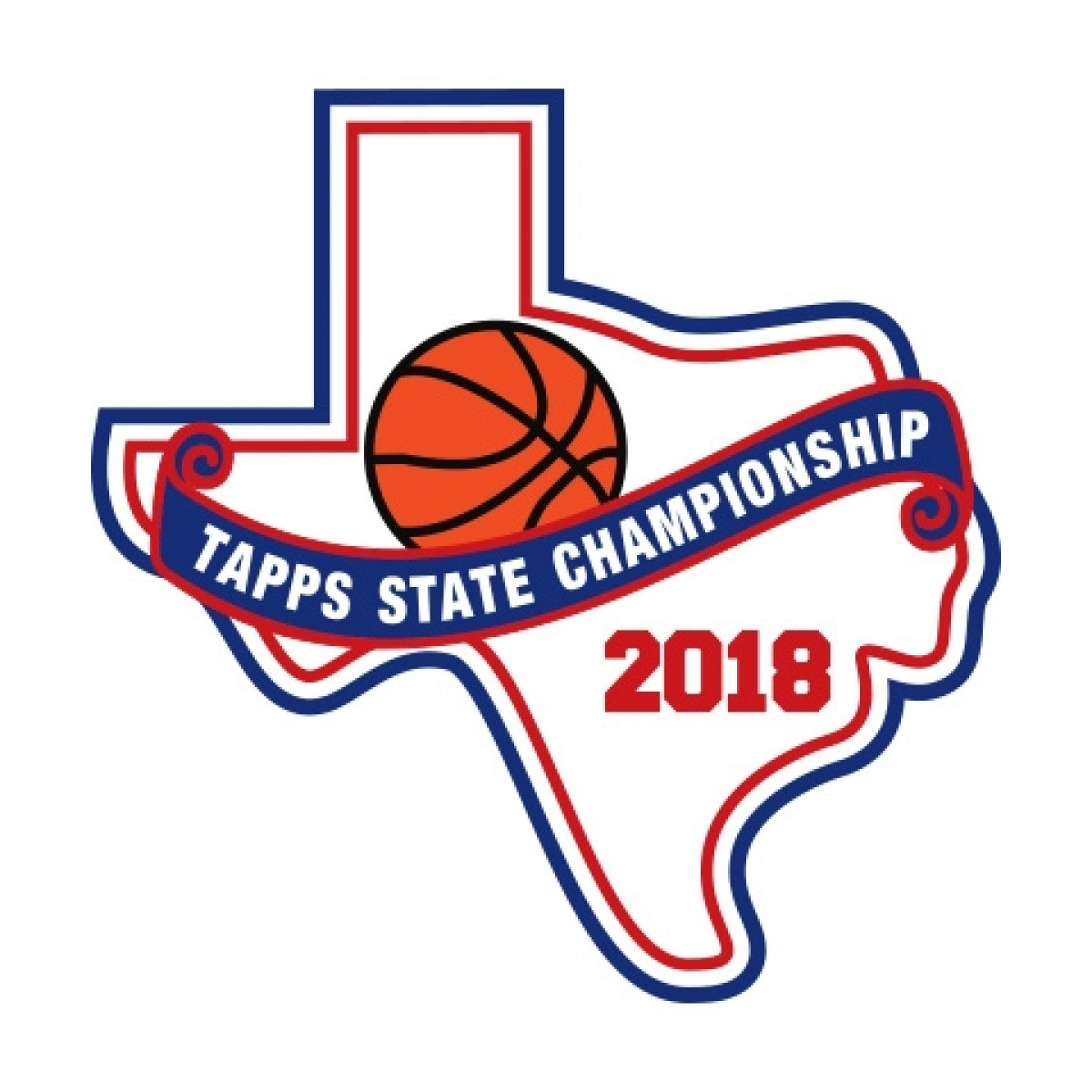 Chenille 2018 TAPPS Basketball State Patch