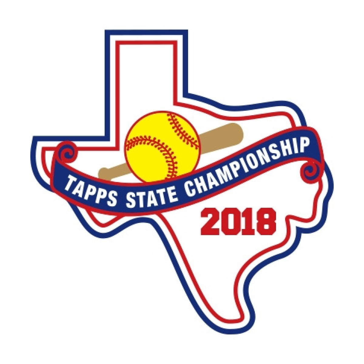 Felt 2018 TAPPS Softball State Patch