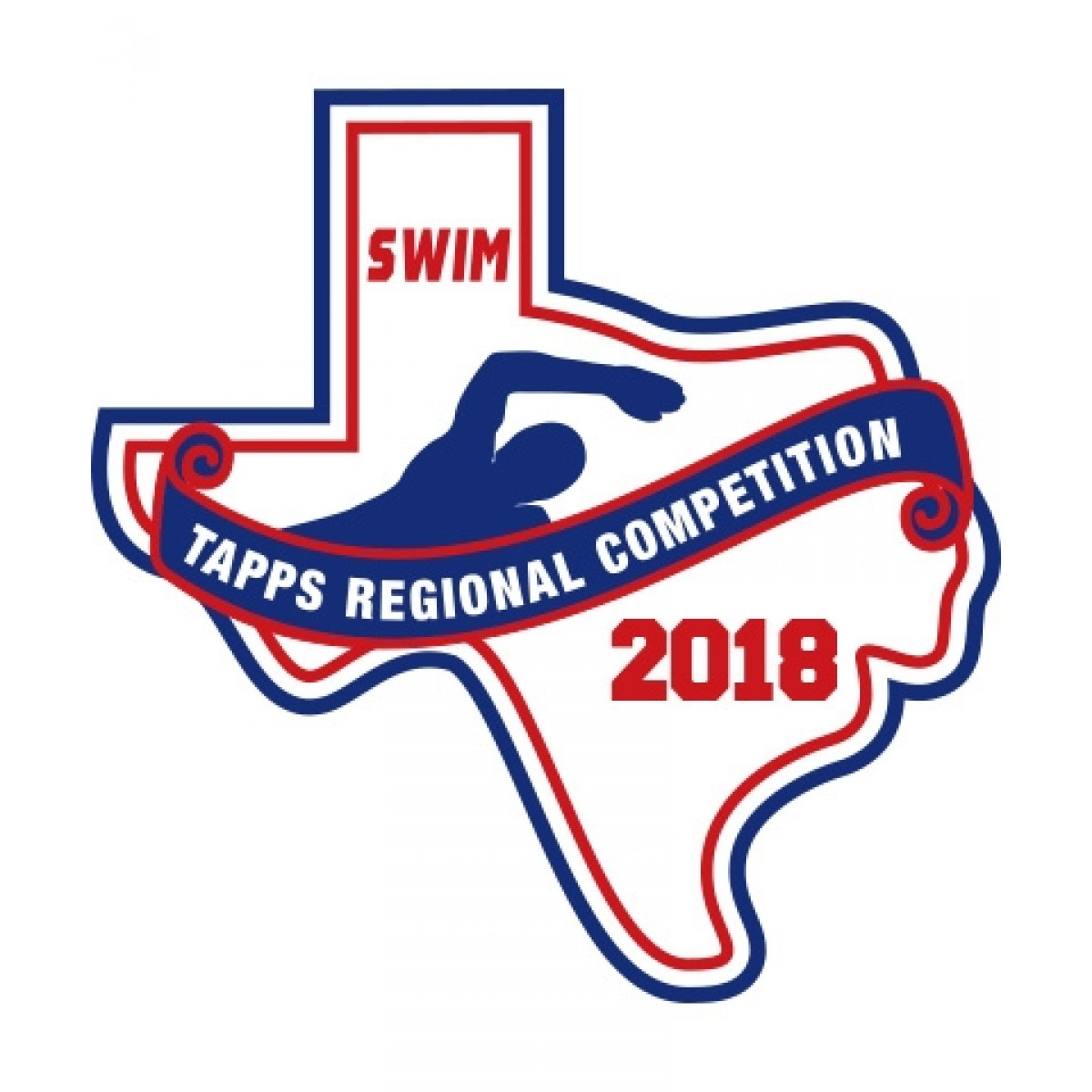 Chenille 2018 TAPPS Swim Regional Patch