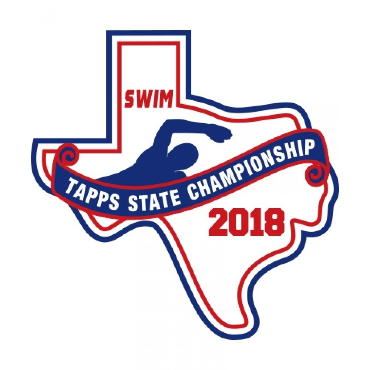 Chenille 2018 TAPPS Swim State Patch