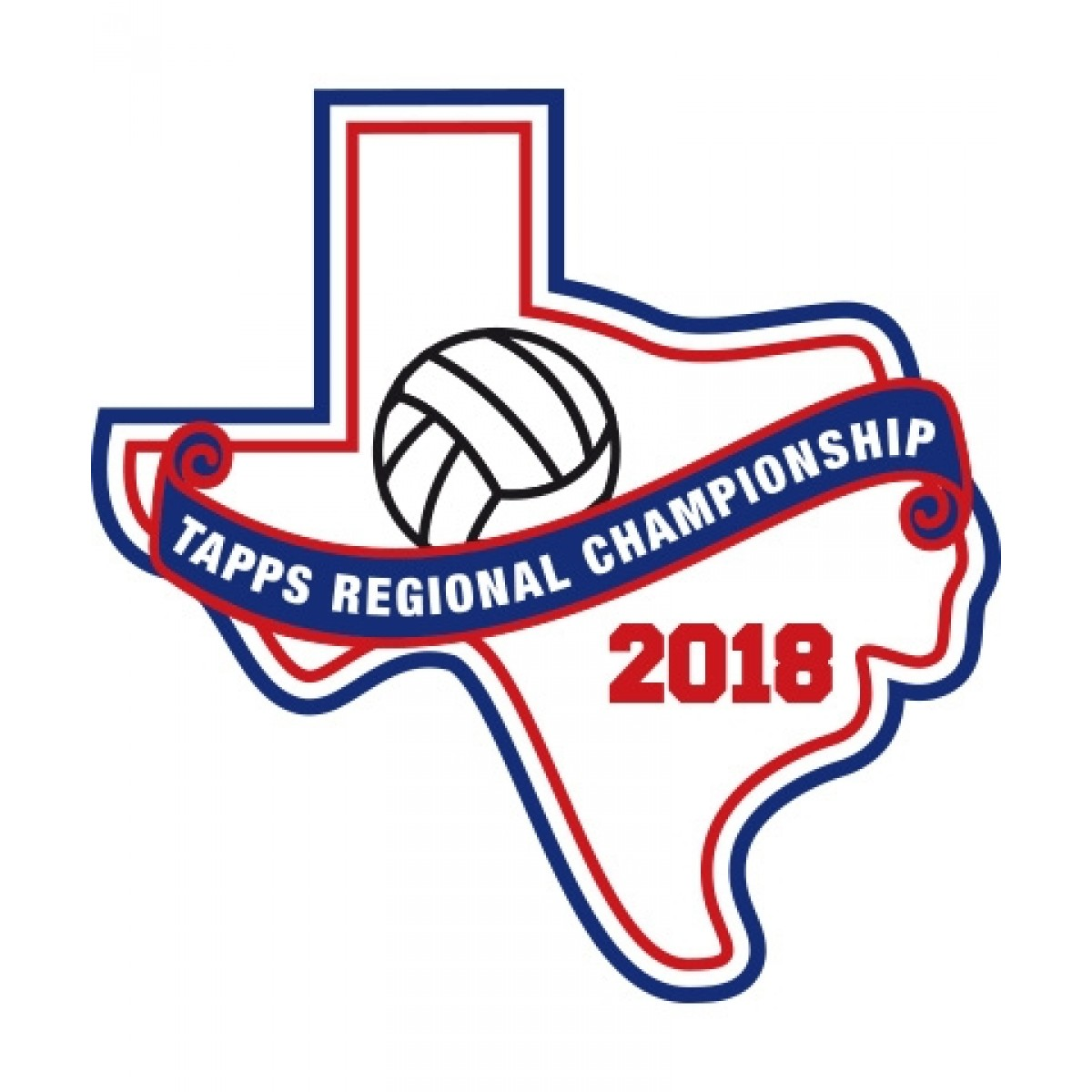 Felt 2018 TAPPS Volleyball Regional Patch