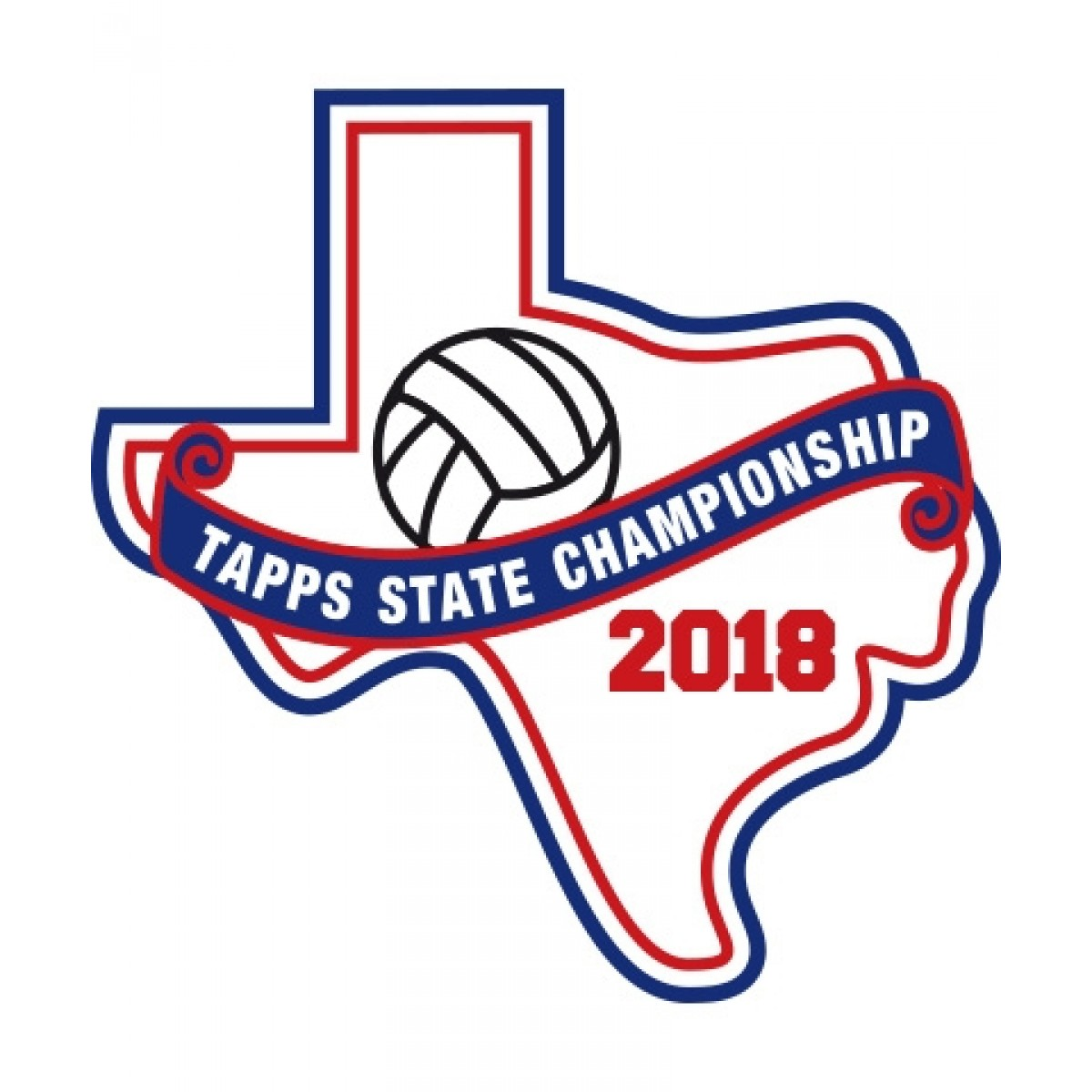 Felt 2018 TAPPS Volleyball State Patch