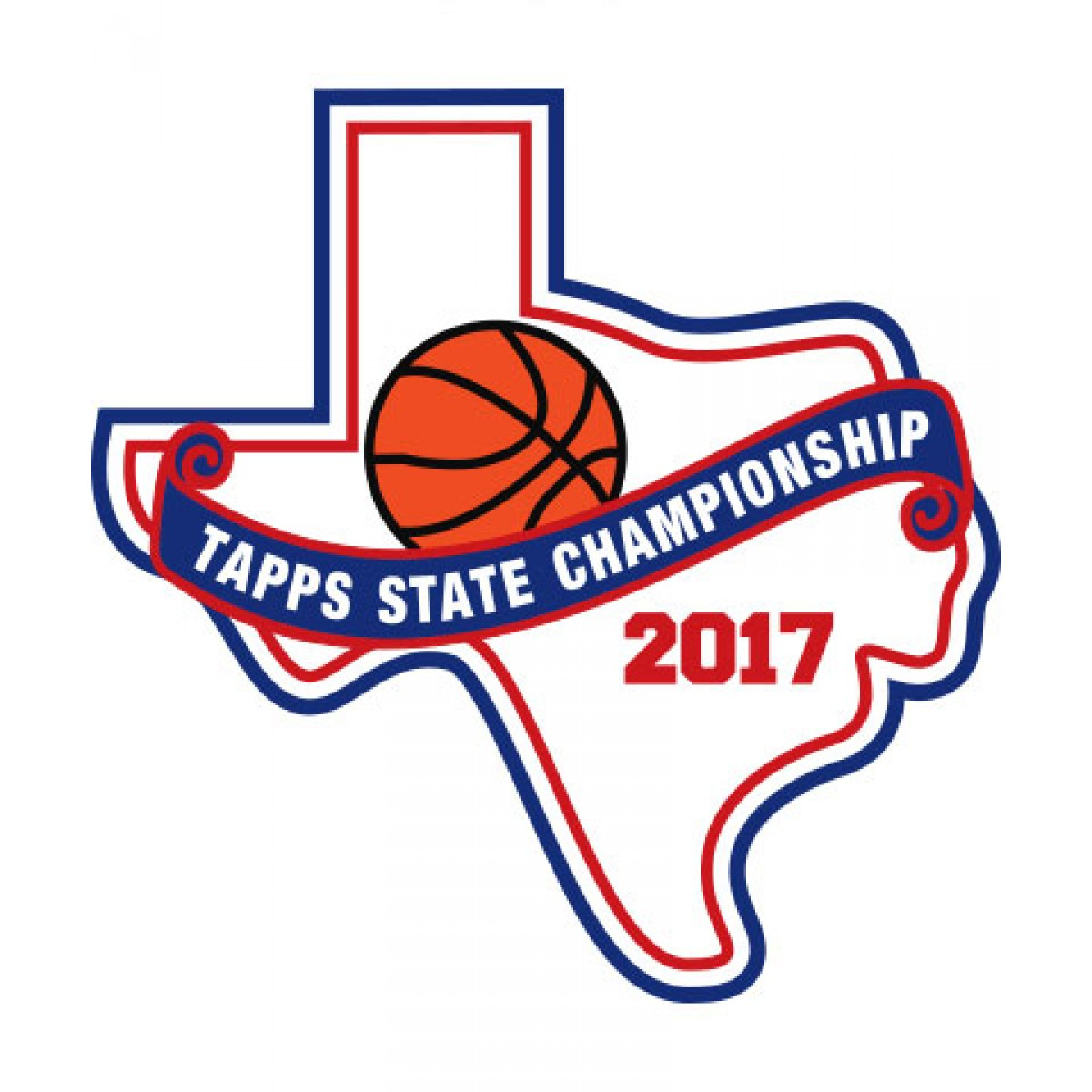 Felt 2017 TAPPS Basketball State Patch