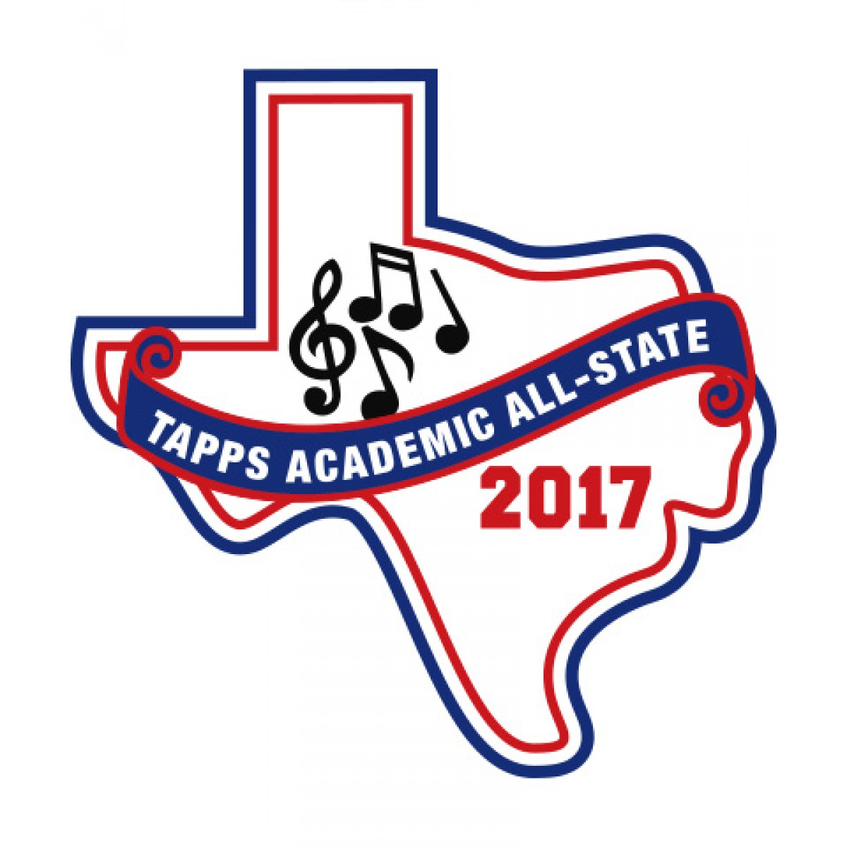 Felt 2017 TAPPS Academic All-State Music Patch