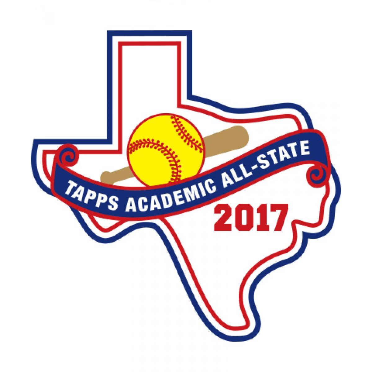 Felt 2017 TAPPS Academic All-State Softball Patch