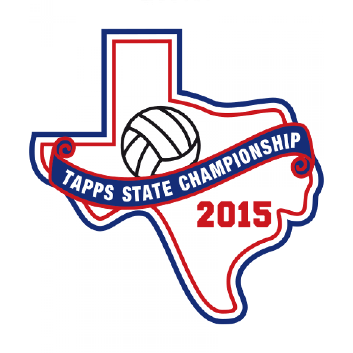 Felt TAPPS 2015 Volleyball State Patch