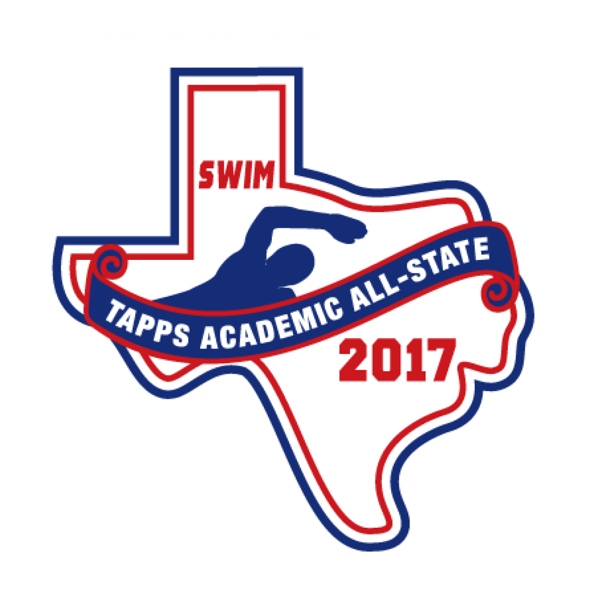 Felt TAPPS 2017 Swim Academic All-State Patch