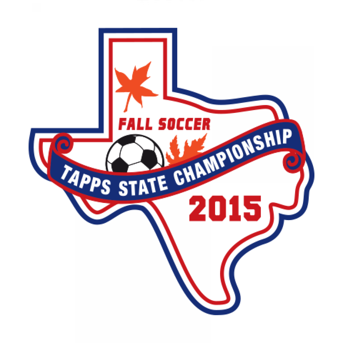Chenille TAPPS 2015 Soccer State Patch