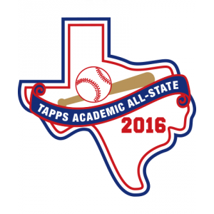 Felt 2016 TAPPS Baseball Academic All-State Patch