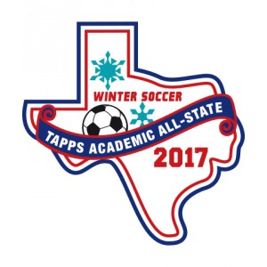 Felt 2017 TAPPS Academic All-State Winter Soccer Patch