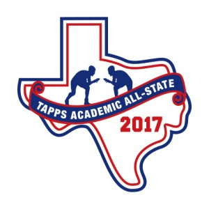 Felt 2017 TAPPS Academic All-State Wrestling Patch