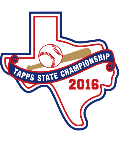 Chenille TAPPS 2016 Baseball State Patch