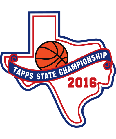 Chenille TAPPS 2016 Basketball State Patch