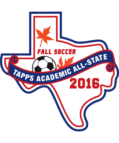 Felt TAPPS 2016 Soccer (Fall)  Academic All-State Patch