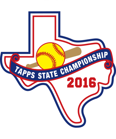 Chenille  2016 TAPPS Softball State Patch