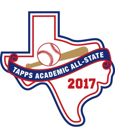 Felt 2017 TAPPS Academic All-State Baseball Patch