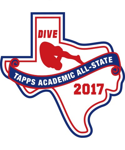 Felt 2017 TAPPS Academic All-State Dive Patch