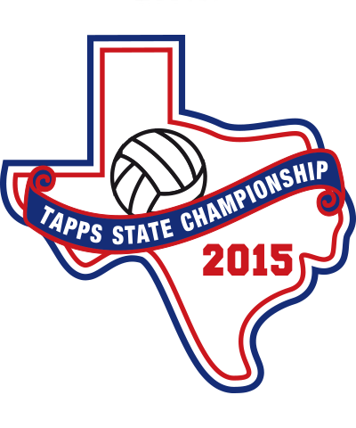 Chenille TAPPS 2015 Volleyball State Patch