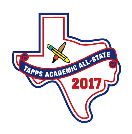 Felt TAPPS 2017 Science Academic All-State Patch