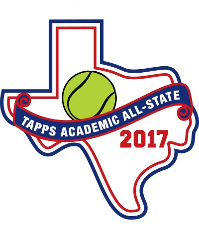 Felt 2017 TAPPS Academic All-State Tennis Patch